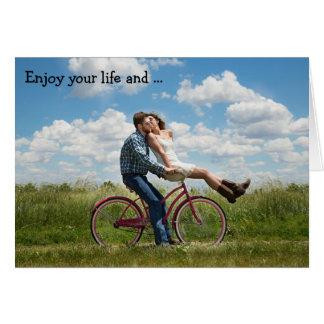 Happy Birthday Card: Enjoy your life Card