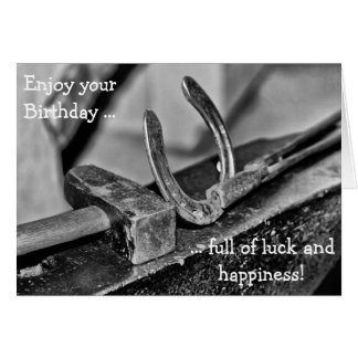Happy Birthday Card for Luck and Happiness