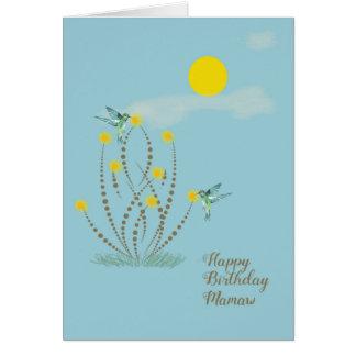 Happy Birthday Card for Mamaw Blue