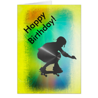 Happy Birthday Card for Skate Boarder