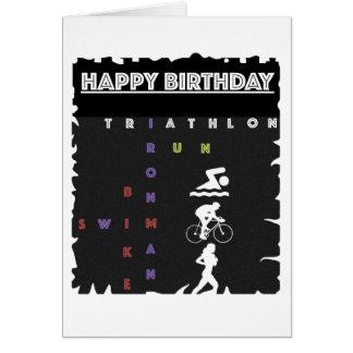 Happy Birthday Card for Triathlete