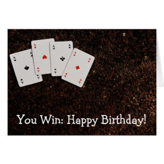 Happy Birthday Card for Winners
