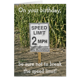Happy Birthday Card-Get in Gear Card