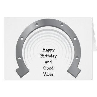 Happy Birthday Card: Good Vibes Card