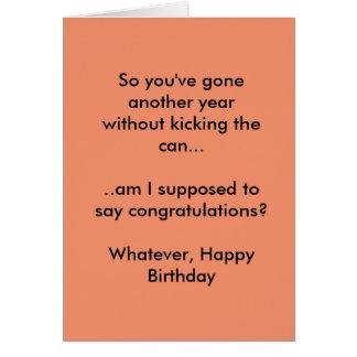 Happy Birthday Card. Minimum Sass Levels exceeded Card