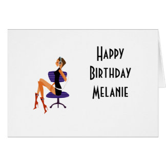 Happy Birthday Card office girl