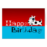 Happy Birthday Card Polka Dot Dog