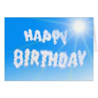 Happy Birthday Card: Sun and blue, blue Sky Card