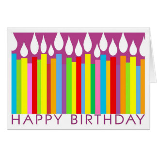 Happy Birthday Card with Candles - General