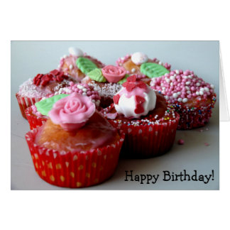 Happy Birthday! Card with Muffins