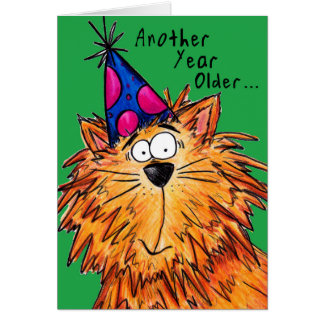 Happy Birthday Cartoon Cat Crazy Cat Lady Card