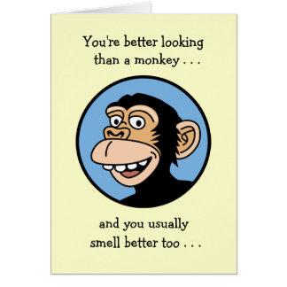 Happy Birthday: Cartoon Monkey Card