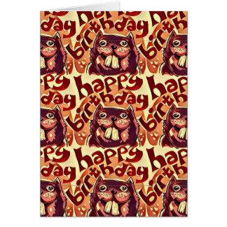 happy birthday cartoon style beavers card