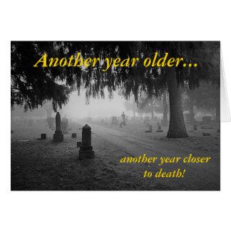 Happy Birthday Cemetery Card
