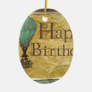 Happy-Birthday Ceramic Ornament