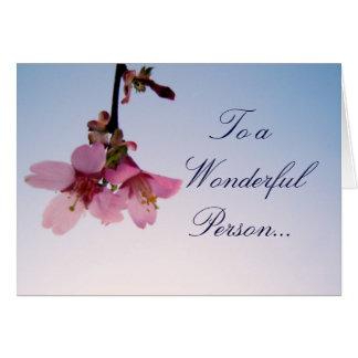 Happy Birthday Cherry Blossom Greeting Card