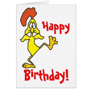 HAPPY BIRTHDAY CHICKEN by SHARON SHARPE Card