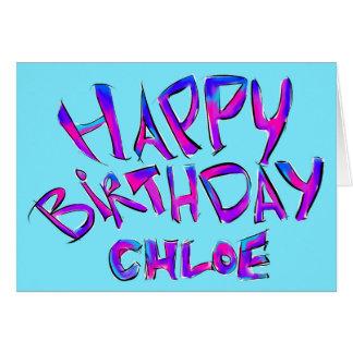 Happy birthday - Chloe Card