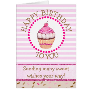 Happy Birthday Chocolate Cupcake Card