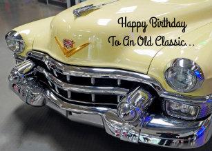 Happy Birthday Classic Car Buff Greeting Card