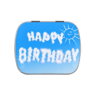 Happy birthday cloud letters