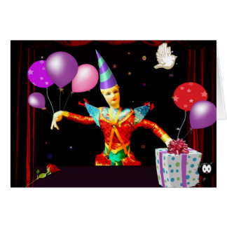 happy birthday clown card