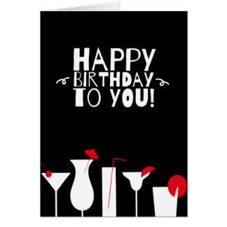 Happy Birthday Cocktail Party Card