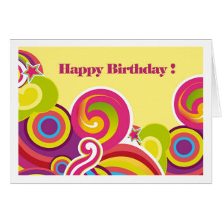 Happy Birthday. Colorful Circles Greeting Cards
