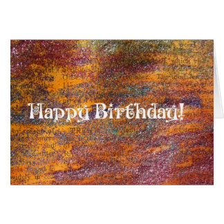 Happy Birthday Colorful Glitter Mixed Media Greeting Card