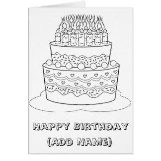 Happy Birthday Colour it Yourself Birthday Card