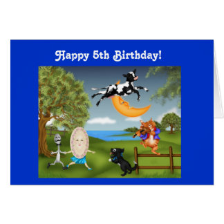 Happy Birthday Cow Jumped over the moon Greeting Card
