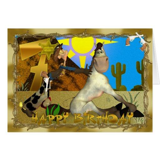 Happy Birthday Cowboy card