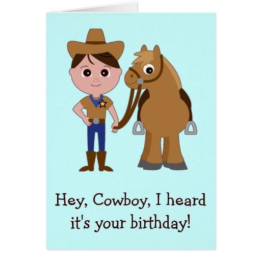 Happy Birthday, Cowboy Card