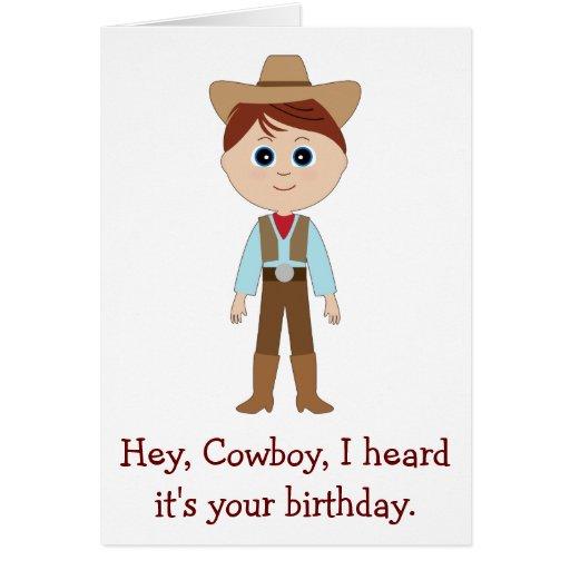 Happy Birthday, Cowboy for Godson Greeting Cards