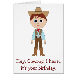 Happy Birthday, Cowboy for Nephew Greeting Card