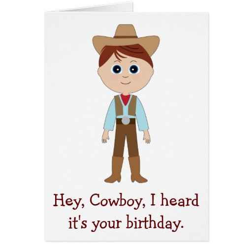Happy Birthday, Cowboy for Nephew Greeting Cards