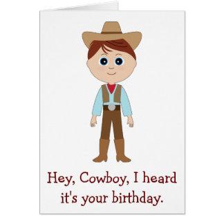 Happy Birthday, Cowboy for Nephew Customizable Greeting Card