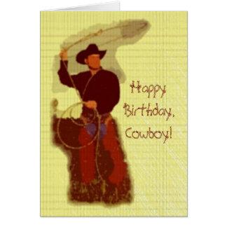 Happy Birthday,Cowboy! Greeting Card
