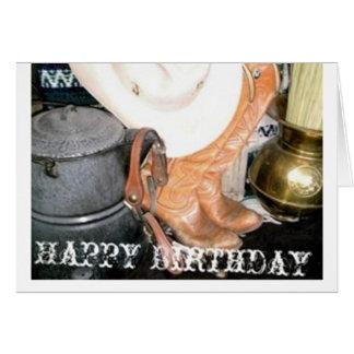 Happy Birthday Cowboy Greeting Card
