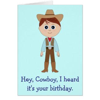 Happy Birthday, Cowboy Greeting Card
