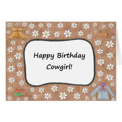 Happy Birthday Cowgirl Card