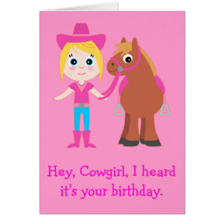 Happy Birthday Cowgirl for Daughter Greeting Card