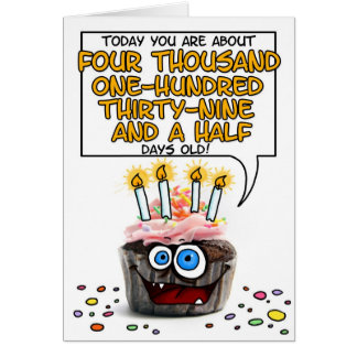 Happy Birthday Cupcake - 11 years old Card