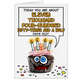 Happy Birthday Cupcake - 31 years old Card