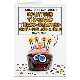 Happy Birthday Cupcake - 39 years old Card