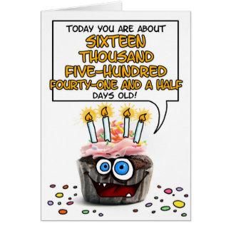 Happy Birthday Cupcake - 45 years old Card