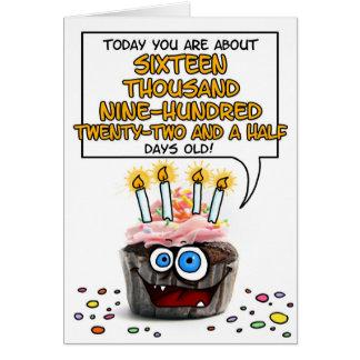 Happy Birthday Cupcake - 46 years old Greeting Card