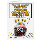 Happy Birthday Cupcake - 49 years old Card