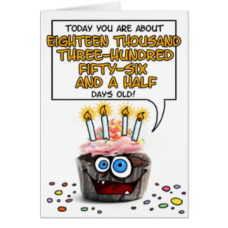 Happy Birthday Cupcake - 50 years old Greeting Card
