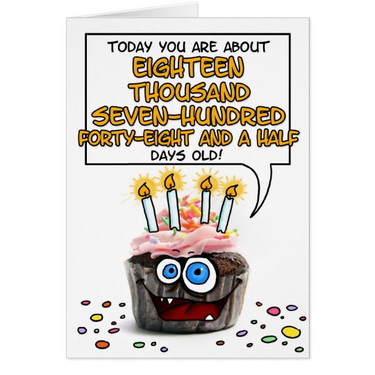 Happy Birthday Cupcake - 51 years old Card